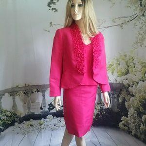 Escada Fushia Blazer and Skirt German size 42